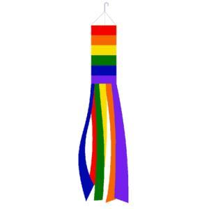 レインボー ウィンドソックフラッグ のぼり旗 メール便可 Rainbow Super Shiny P...