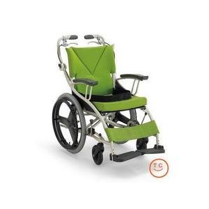 車椅子 (非課税)カワムラサイクル 歩行車いす AY18-38 若葉色|sundance