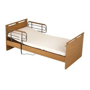 ベッド 電動ベッド 1モーター 穂高フラット マット・手すり付 ナチュラル|sundance