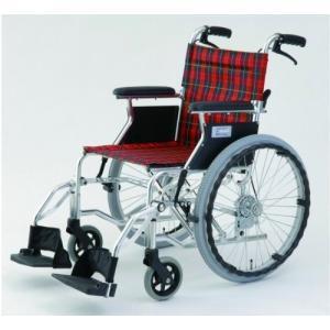 車椅子 軽量コンパクト自走・介助式車いす(アルミ製・介助ブレーキ付き)HTB-20D|sundance