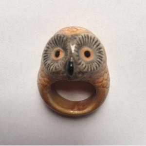 Nach ふくろう ナッシュ アニマルリング owl 指輪|sunday-brunch