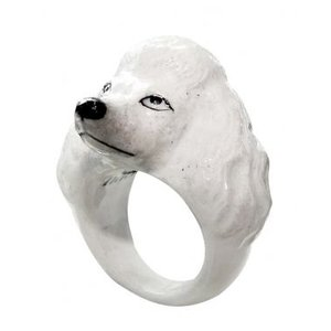 Nach プードル ナッシュ アニマルリング 犬 いぬ dog 指輪 送料無料|sunday-brunch
