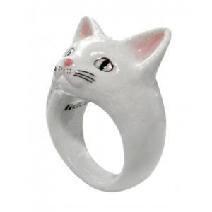 Nach 白猫 ナッシュ アニマルリング ねこ ネコ cat 指輪|sunday-brunch