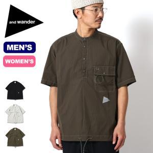 and wander アンドワンダー ドライリップショートスリーブシャツ メンズ ウィメンズ 5741183063 シャツ 半袖 カジュアルシャツ|OutdoorStyle サンデーマウンテン