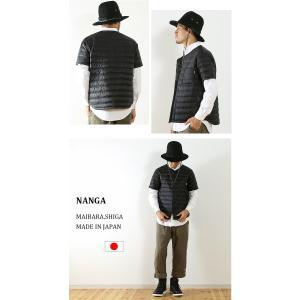 ナンガ ダウンTシャツ フロントオープン NA...の詳細画像4