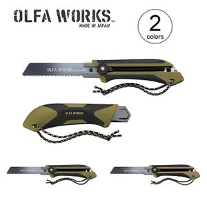 オルファワークス 替刃式フィールドノコギリ OLFA WORKS ツールナイフ キャンピングナイフ ...
