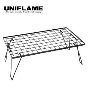 UNIFLAME ユニフレーム フィールドラック ブラック テーブル ローテーブル 棚 60cm 折りたたみ コンパクト キャンプ アウトドア|OutdoorStyle サンデーマウンテン