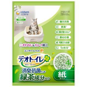 ユニ・チャーム 1週間消臭・抗菌デオトイレ飛び散らない緑茶成分入り消臭サンド4L