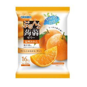 【数量限定!】オリヒロ ぷるんと蒟蒻ゼリー パウチ 温州みかん 20g×6個【6個セット】 sundrugec