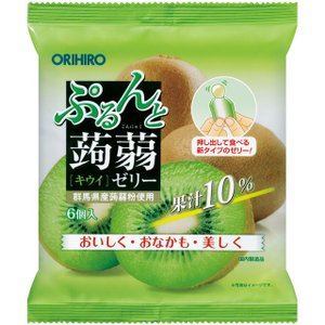 オリヒロ ぷるんと蒟蒻ゼリー パウチ キウイ 20gx6個【6個セット】|sundrugec