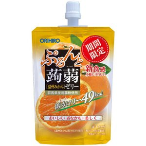 【数量限定!】オリヒロ ぷるんと蒟蒻ゼリー 温州みかん 130g【8個セット】 sundrugec