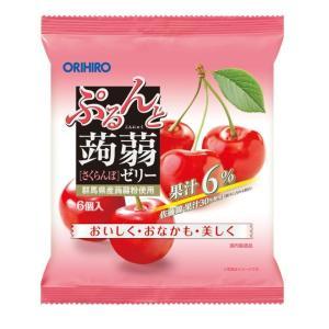 オリヒロ ぷるんと蒟蒻ゼリーパウチ さくらんぼ 20gx6個【6個セット】|sundrugec