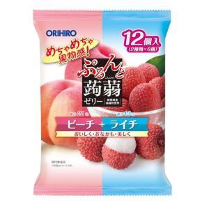 オリヒロ ぷるんと蒟蒻アソート ピーチ+ライチ 20gx12個【6個セット】|sundrugec