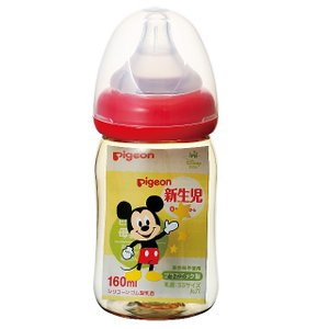 ピジョン 母乳実感哺乳びん プラスチック ミッキー柄 160ml