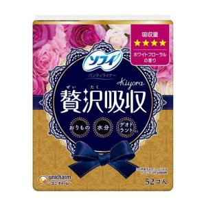 ユニチャーム ソフィ Kiyora(キヨラ) 贅沢吸収 パンティーライナー ホワイトフローラルの香り...