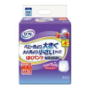 【大人用紙おむつ類】リフレ はくパンツジュニア SSサイズ 20枚【4個セット(ケース販売)】※商品コード:4904585029202のリニューアル品です。|sundrugec