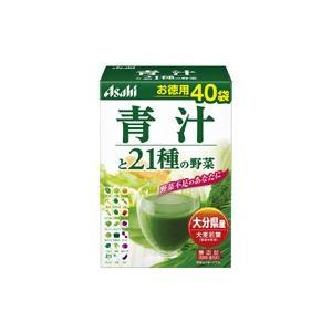 アサヒグループ食品 朝しみこむ力お徳用青汁と21種の野菜3.3GX40袋|sundrugec