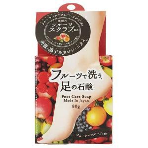 ペリカン石鹸 フルーツで洗う足の石鹸 80g|sundrugec