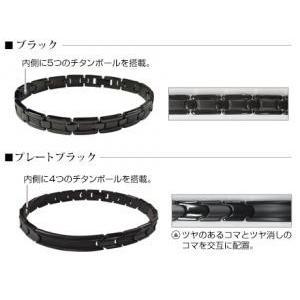phiten / ファイテン チタンブレスプレート ブラック 20.5 JX873000 【お取り寄せ商品】|sunfastsports