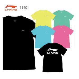 【即日出荷】リーニン バドミントンウェア 11401 ユニ Tシャツ [背面ロゴプリント] リーニン / LI-NING【クリックポスト発送可】|sunfastsports