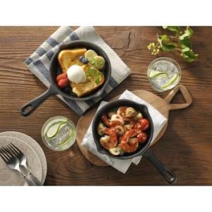 【オシャレで便利なスキレット1個入り】 冷めにくい 直火 IH オーブン トースター コンパクトサイズ 女性 テーブル 料理|sunfield-silica