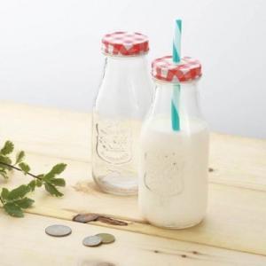 【サニーミルクボトル 20個入り】 アメリカンレトロ おしゃれ お子様 持ちやすい サイズ インテリア sunfield-silica