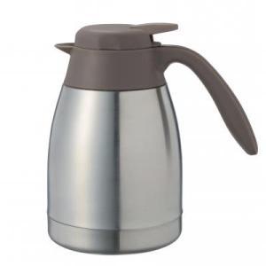 【真空ステンレス卓上ポット800ml 1個入り】 お店 二重構造 テーブル カフェ お茶 コーヒー 紅茶 冷水|sunfield-silica