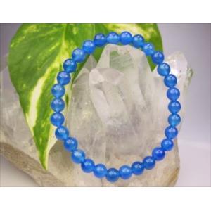 均一ブレスレット ブルーアゲート 青メノウ Φ6±0.2mm