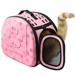 犬猫ちゃんお散歩やお出かけ、旅行や動物病院への移動時に便利に使用するキャリーバッグです。  折り畳み...