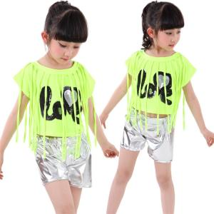 子供 ダンス 衣装 ヒップホップ ジャズ 男の子 女の子 スパンコール Tシャツ ストリート系 大量注文対応|sunflowerhouse