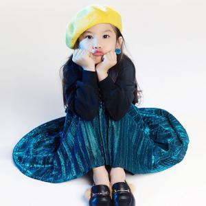 80-140cm子供 スカート 女の子 キッズスカート ミモレ丈 ラメ入り 女の子 子供服 メタルのような質感 肌触りがいい|sunflowerhouse