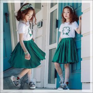100-160cm夏二点セット Tシャツ スカート 子供服 おしゃれ ボトムス 女の子 トップス キッズ 小花柄 夏 超人気 女児 着心地いい|sunflowerhouse