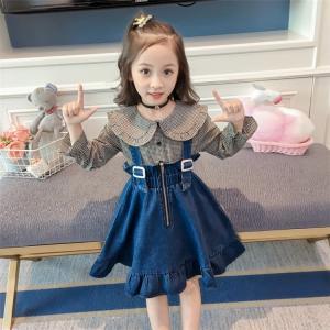 女の子スカート 吊りスカート デニムスカート キッズ 韓国子供服 無地 子供 ジュニア カジュアル サロペット|sunflowerhouse