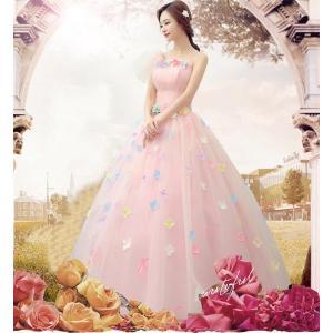 新品 激安 ロングドレス カラードレス 二次会 花嫁 結婚式 ウェディングドレス 二次会 ウエディング 花嫁ドレス ドレス ロング エンパイアライン|sunflowerhouse