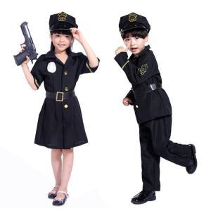 ハロウィン キッズ  コスプレ 警察服  halloween衣装  キッズダンス衣装  仮装 子供 警察官 コスチューム 女の子 男の子 演出服 警察制服 ポリス お巡りさん