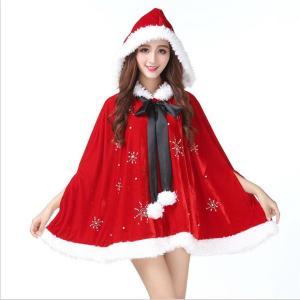 クリスマス衣装  レディース  サンタマント コスプレ マント サンタクロース  クリスマス衣装 可愛い 女性 サンタコスチューム コスプレ衣装 ワンピース 女性用|sunflowerhouse