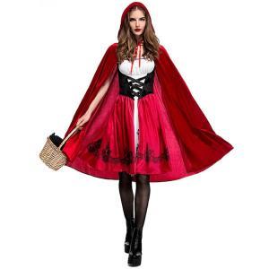 ハロウィン レディース コスプレ ハロウィン衣装  赤ずきん 魔女 巫女  パーティー変装  ヴァンパイア コスチューム 仮装 ワンピース マント  女性用|sunflowerhouse