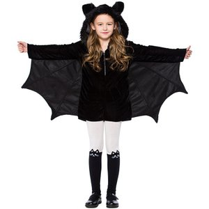 ハロウィン コスプレ キッズ コウモリ バット 蝙蝠 アニマル  仮装 コスチューム こうもり  キャラクター衣  女の子 演出用 キッズダンス衣装|sunflowerhouse