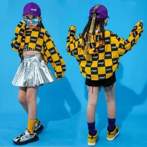 キッズ ダンス衣装 ヒップホップ HIPHOP セットアップ 子供服 男の子 女の子 ズボン トップス ステージ衣装 ジャズダンス  練習着 体操服|sunflowerhouse