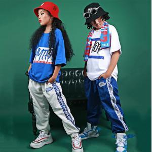 キッズ ダンス衣装 ヒップホップ HIPHOP 子供 男の子 女の子 ダンス トップス tシャツ ダンスパンツ ダンス衣装 ジャズダンス ステージ衣装 練習着