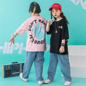 キッズ ダンス衣装 ヒップホップ HIPHOP  セットアップ 子供 男の子 女の子 ジーンズ ダンストップス  デニムパンツ ジャズダンス ステージ衣装 JAZZ 練習着 sunflowerhouse