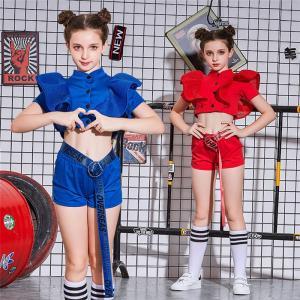 キッズ ダンス衣装 ヒップホップ チアガール HIPHOP セットアップ ジャズダンス ダンスパンツ 子供  女の子 ガールズ チア JAZZ ステージ衣装 練習着 応援団|sunflowerhouse