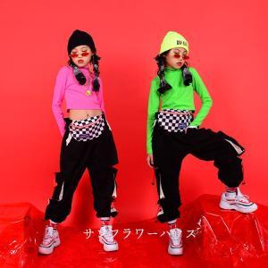 キッズダンス衣装  HIPHOP ヒップホップ セットアップ 子供服 ダンストップス 長袖 パンツ 長ズボン チア ジャズダンス 練習着 演出服 体操服