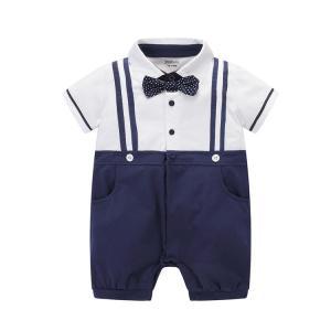 [出産祝い 男の子ロンパース]ベビー  フォーマル 半袖  ...