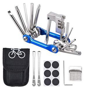 Oziral 自転車工具セット 6点セット 自転車修理キット 自転車用ツールセット パンク修理キット 11-in-1マルチツール 六角レンチ|sunflowermagic
