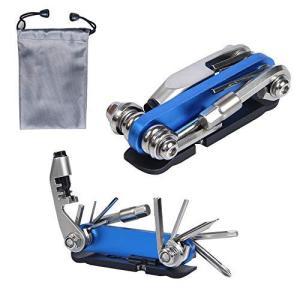 自転車工具セット 携帯マルチツール 2020新型 15-in-1 スタイル 自転車修理キット 六角レンチ タイヤレバー チェーンカッター 多|sunflowermagic
