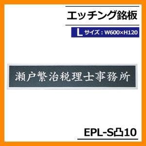 表札 ステンレス表札 エッチング銘板 Lサイズ EPL-S凸-10 W600×H120×T2mm 丸三タカギ  看板 銘板 送料別|sungarden-exterior