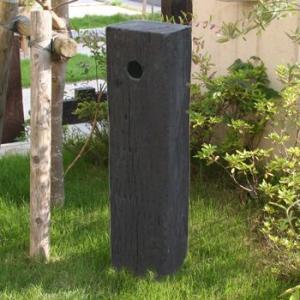 枕木風水栓柱カバー FRP製 JJFRPMsen 57085 送料無料|sungarden-exterior