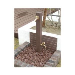 ディーズガーデン DGW0202 水栓柱 ウォータースタンドTypeA 立水栓二口タイ 蛇口2個付き 送料無料|sungarden-exterior