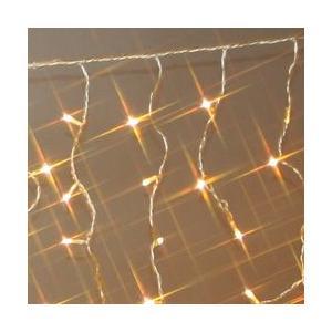 144球防雨カーテンLEDライト(シルバーコード)・約1m/ハニーゴールド 送料無料 sungarden-exterior